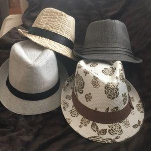 Fedora hats. Lot of 4